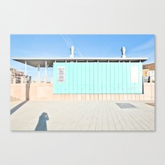 Blue House and the Photographer Canvas Print