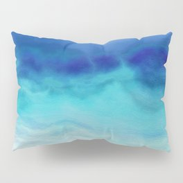'Rivers of Life Refresh My Soul' Abstract Watercolor Pillow Sham