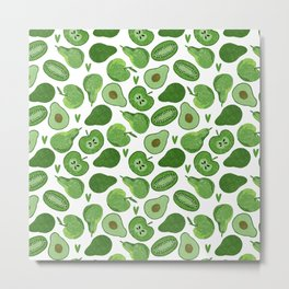 Green fruits and vegetables Metal Print