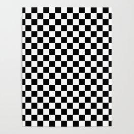 Black Checkerboard Pattern Poster