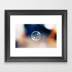 One Bubble Framed Art Print