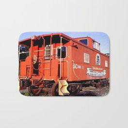 Lil Red Caboose -Wellsboro Ave Hurley ArtRave Bath Mat
