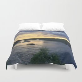 Sunset Sailing on the Loire Duvet Cover