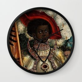 African Masterpiece 'Maurice, Commander of Roman Legion 280 A.D.' Portrait Painting Wall Clock