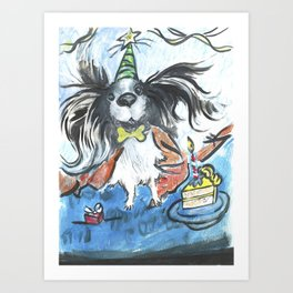 Happy Birthday Pooch Art Print