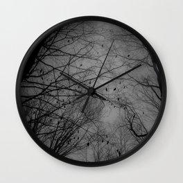 Tree of black Wall Clock