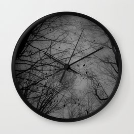 Tree of black Wall Clock