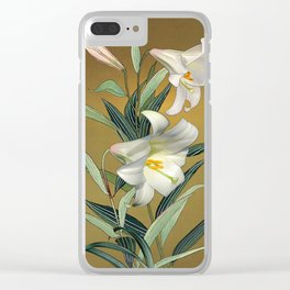 Trumpet Lily Clear iPhone Case