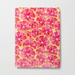 Tropical Citrus Metal Print
