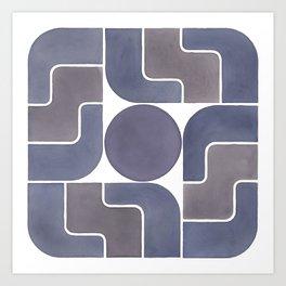 MONTE ALBÁN MOD (ECLIPSE), pattern by Frank-Joseph Art Print