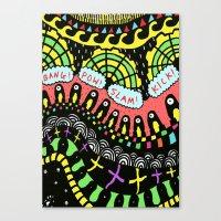 psycho Canvas Prints featuring Psycho by Saif Chowdhury