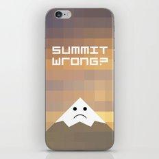summit wrong? iPhone & iPod Skin