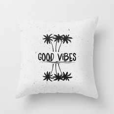 Good Vibes Throw Pillow