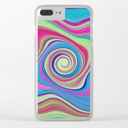 Colorful Shapes of Toast Clear iPhone Case