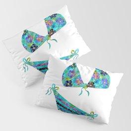 No Problems at the Beach - Colorful Beachy Bikini Art - Sharon Cummings Pillow Sham