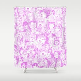 Pastel Ahegao Collage Shower Curtain