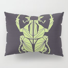 Envious Beetle - Geometric Insect Design Pillow Sham
