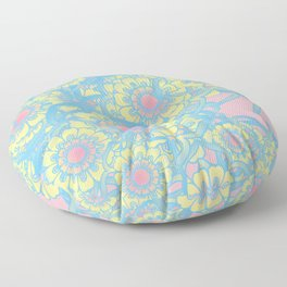 Pastel colored daisies Floor Pillow