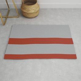 Minimal Rusted Orange & Grey Rug