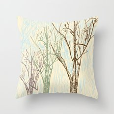 A Winters Sketch Throw Pillow