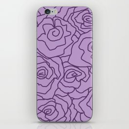 Lavender Dreams Roses - Light with Dark Outline - Color Therapy iPhone Skin