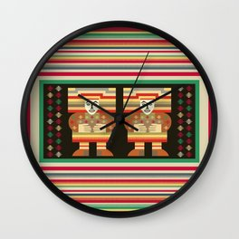 Nick's Blanket 1968 Version 2 (With Figures) Wall Clock