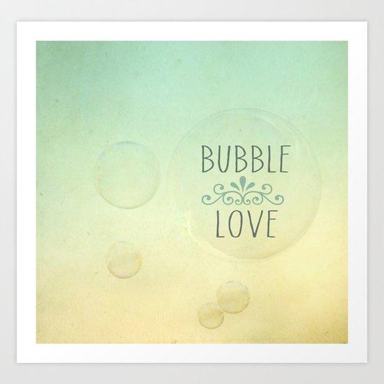Bubble Love {Vintage} Art Print