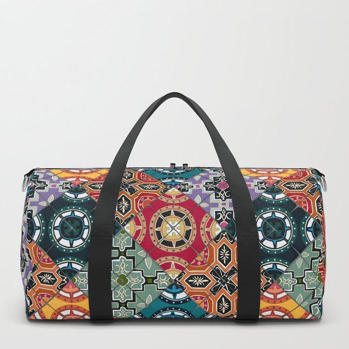 DESEO BOLD spanish tiles Duffle Bag
