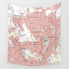 Lafayette Louisiana Map (1983) Wall Tapestry