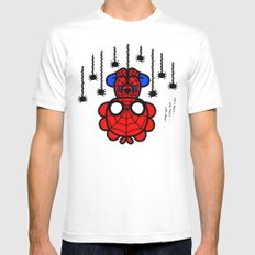 spider spider spider.... MEDIUM White Mens Fitted Tee