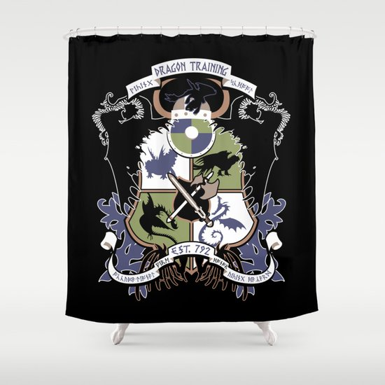 Dragon Training Crest - How to Train Your Dragon Shower Curtain