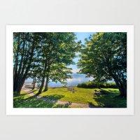 Summertime Park Art Print