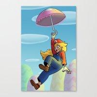 princess peach Canvas Prints featuring Princess Peach by Lisa Lynne Lumos