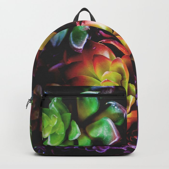 Colorful Succulent Plants Backpack