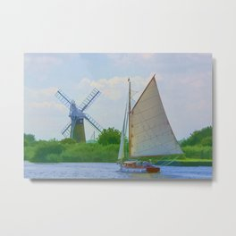 Sailing the Norfolk Broads 2 Metal Print