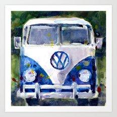 Car Van Watercolor Original Art Art Print