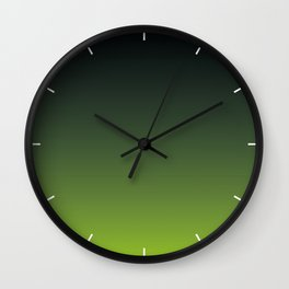 Ombre | Color Gradients | Gradient | Two Tone | Charcoal Grey | Lime Green | Wall Clock