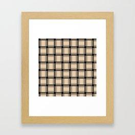 Large Bisque Brown Weave Framed Art Print