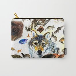 Animal collage  (c) 2017 Carry-All Pouch