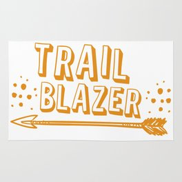 Trail blazer with arrow in orange Rug