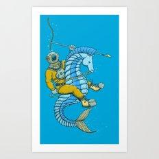 Deep Sea Hunting Art Print