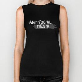 "Antisocial Media aka Anti-""Social Media"" Biker Tank"