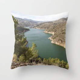 Artifical Lake In Andalusia Throw Pillow