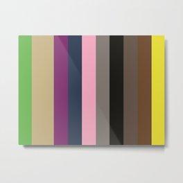 KEEPING BUSY : KellyGreen, Ecrux2, Purple, Indigo, Nadeshiko Pink, Grey, Black, Umber, Sepia, Yellow Metal Print