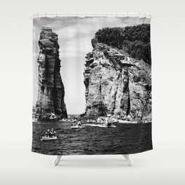 Cliff Diving event Shower Curtain