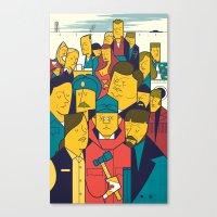 fargo Canvas Prints featuring Fargo by Ale Giorgini