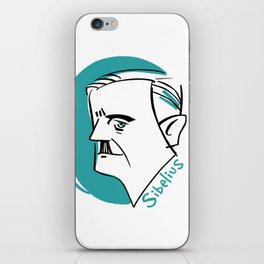 Jean Sibelius #4 iPhone Skin