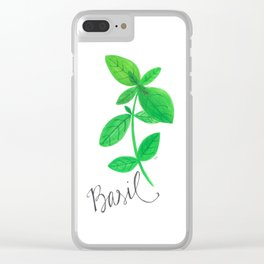 Basil Garden Art Clear iPhone Case