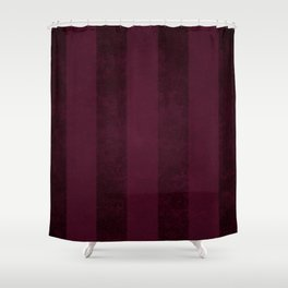 Red Wine Stripes Shower Curtain