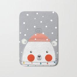 Christmas Polar Bear Bath Mat